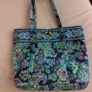 Vera Bradley Blue Green Purple Tote Bag